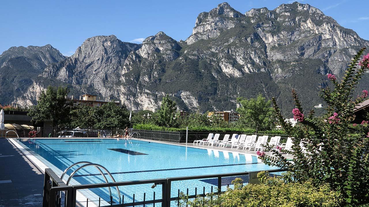 Lago di Garda ubytování bazén
