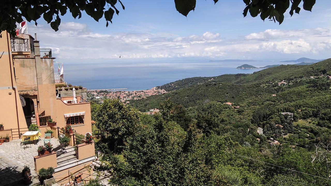 Elba na kole - výhled