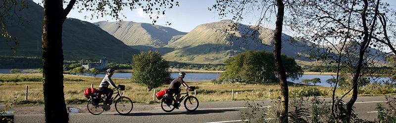 Skotsko na kole - jezero