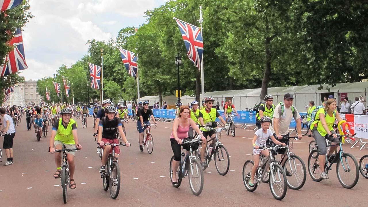 Cyklistický závod v Londýně