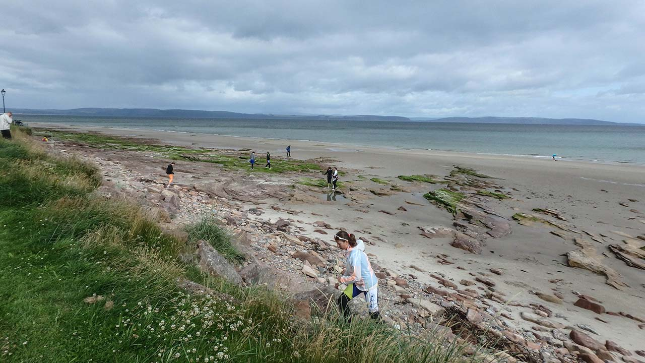 Skotsko na kole - pláž