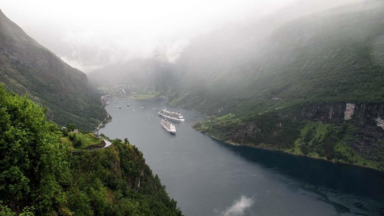 Norsko na kole - Geiranger fjord