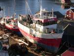 Vraky lodí na Lofotech