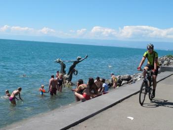 Švýcarská jezera na kole